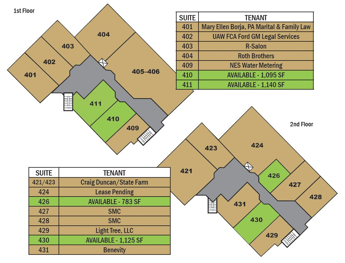 Northwood Commons Office Space Floor Plans